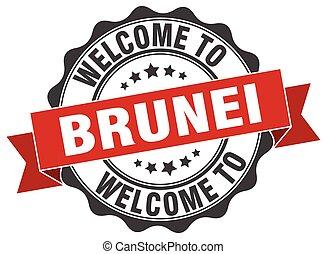 Brunei round ribbon seal