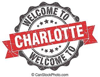 Charlotte round ribbon seal