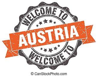 Austria round ribbon seal
