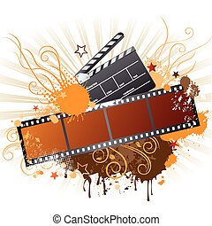 film strip,movie theme element - vector elements of the film...