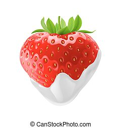 Sweet Strawberries - Fresh Strawberry Dipped in Sour Cream....