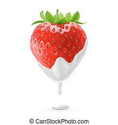 Sweet Strawberries - Ripe Strawberry Dipped in Sour Cream....