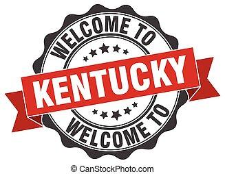 Kentucky round ribbon seal