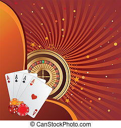 gambling background - casino elements,gambling background