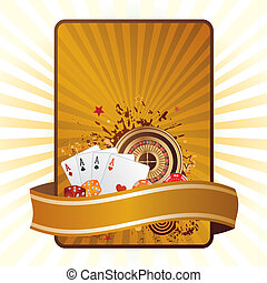 casino elements vector - gambling background
