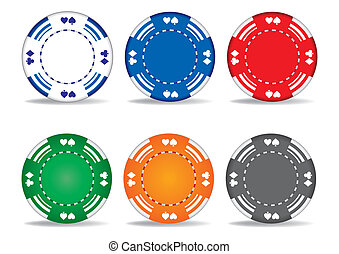 gambling chips - casino elements,gambling chips