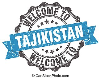 Tajikistan round ribbon seal