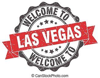 Las Vegas round ribbon seal
