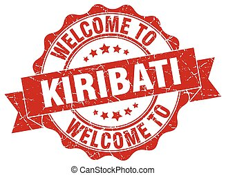 Kiribati round ribbon seal