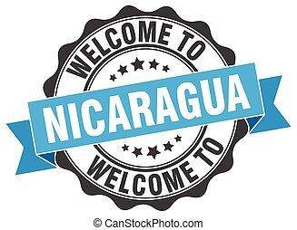 Nicaragua round ribbon seal