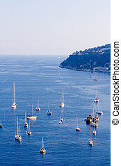 Villefranche sur Mer, French Riviera - View of Villefranche...