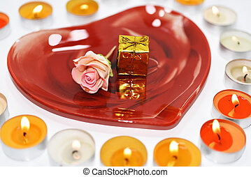 Composition of preparing to Valentine day. - Abstract...