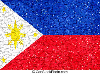 Philippines Grunge Flag - Philippines national flag in...