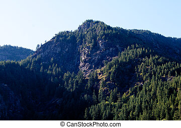 A peak in the Cascade mountain range - A mountain peak in...