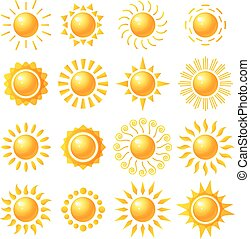 Vector set icons with sun