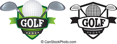 golf logo or badge, shield or branding - shield or logo...