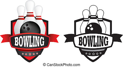 bowling logo or badge, shield or branding - shield or logo...