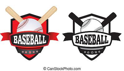 baseball logo, badge or shield - shield or logo badge to...