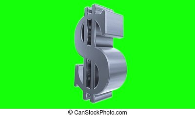 Dollar sign symbol rotate loop business finance tax gangster bling financial