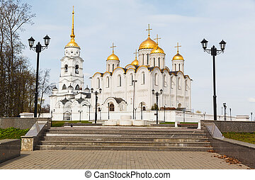 Assumption cathedral in Vladimir, Russia. Golden Ring of...