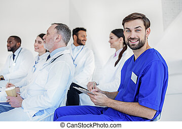 General practitioners are interested in medical lecture -...