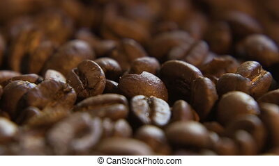Coffee Beans Scoop - Macro close up of beans getting scooped...