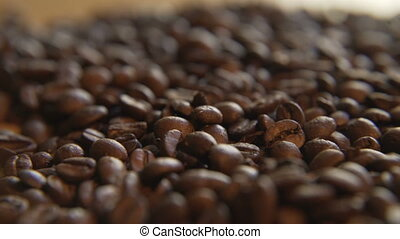 Coffee Beans, Rack Focus - Shallow depth of field as focus...