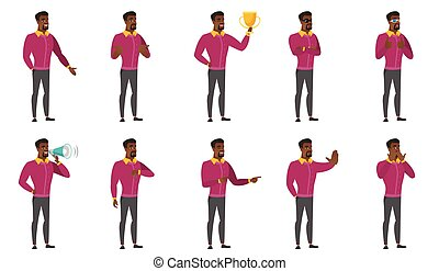 Vector set of illustrations with business people. - Confused...