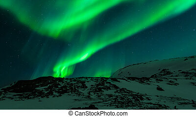 Aurora borealis - The beatiful view of Aurora Borealis