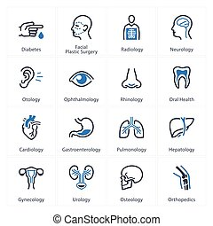 Medical & Health Care Icons Set 1 - Specialties - This set...