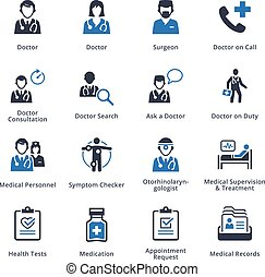 Medical Services Icons Set 3 - Blue Series - This set...