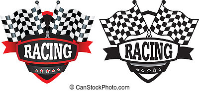 racing or motorsports badge or logo