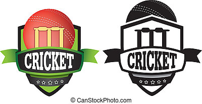 cricket logo or badge, shield or branding - shield or logo...