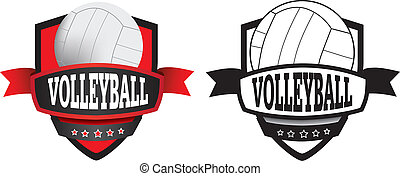 volleyball club, logo, shield or badge - shield or logo...