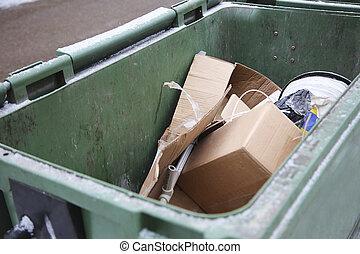 garbage in trash