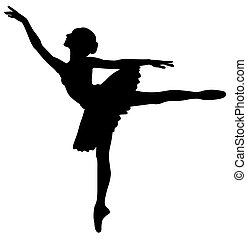 Ballerina - Abstract vector illustration of dancing...