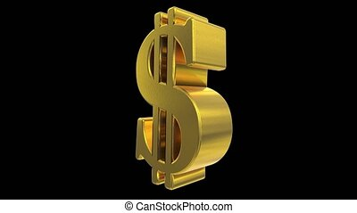 Dollar sign symbol rotate loop business finance tax gangster bling financial 4k