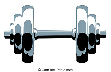 Dumbbell - Abstract vector iilustration of dumbbell