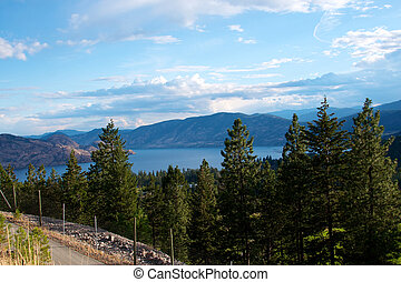 Lake Okanagan near Kelowna British Columbia - Lake Okanagan...