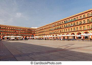Cordova. Square Corredera. - The central square of Córdoba...
