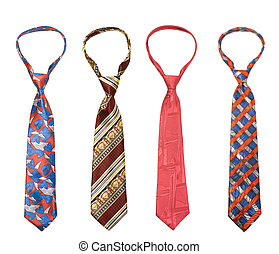 Set of man's ties isolated - Set of man ties isolated on...