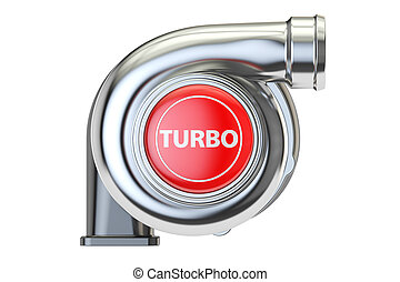 turbo concept, 3D rendering isolated on white background