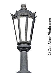 Old lantern isolated on white background