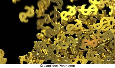 Dollar signs symbols fill screen transition money bank...