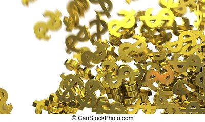 Dollar signs symbols fill screen transition money bank business finance tax