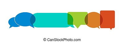 Vector colorfull bubble speech icons background. - Vector...