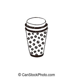 coffee to go - Coffee to go symbol isolated on white...