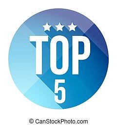 Top Five button vector