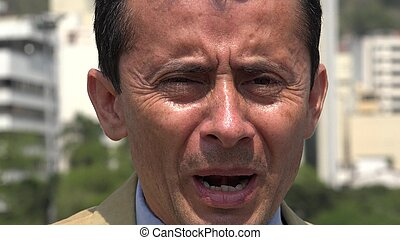 Hispanic Man With Anxiety