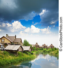 Summer from rural landscape